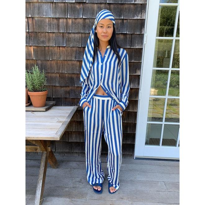 The Silk Ponza - Royal Blue/Cream