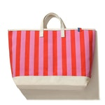 The All Over Striped Tote - Pink/Poppy