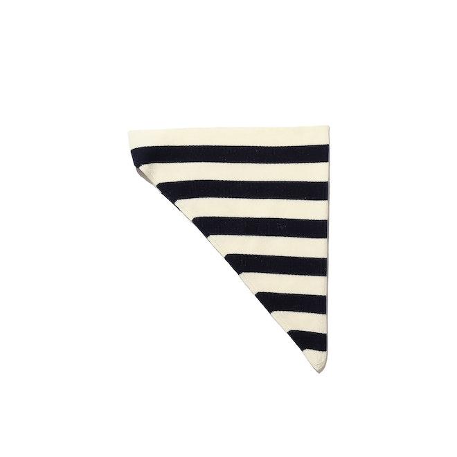 The Frances Headscarf - Navy/Cream