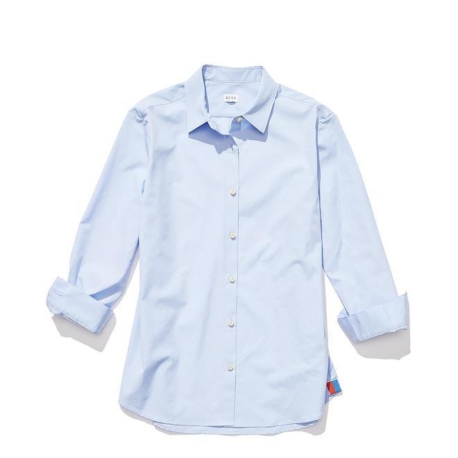 The Hutton Oversized Shirt - Banker Blue