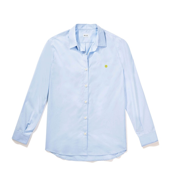The Hutton Oversized Shirt - Banker Blue - Monogram