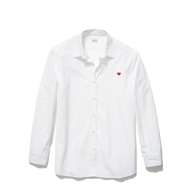 The Hutton Oversized Shirt - White - Monogram