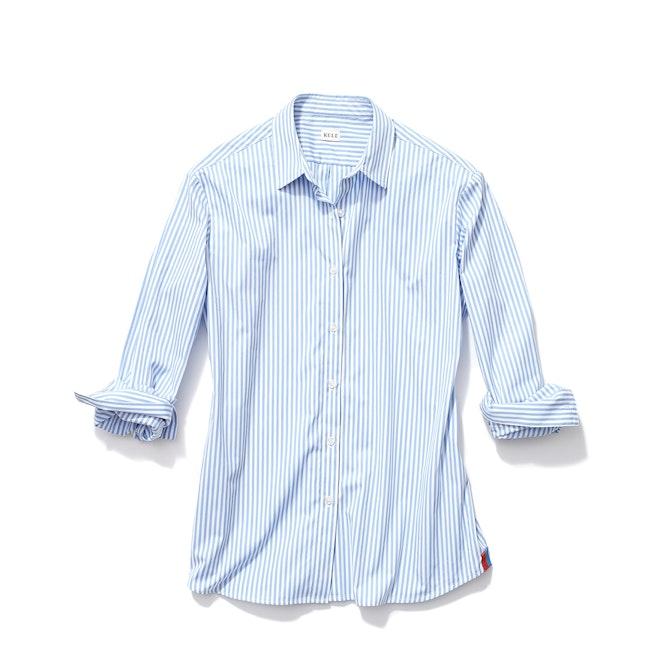 The Hutton Oversized Shirt - White/SkyThe Hutton Oversized Shirt - White/Sky