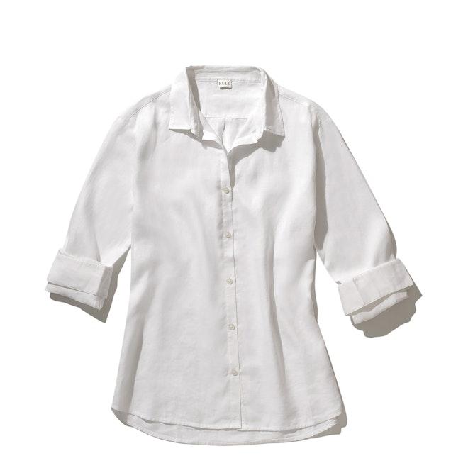 The Linen Oversized Hutton - White