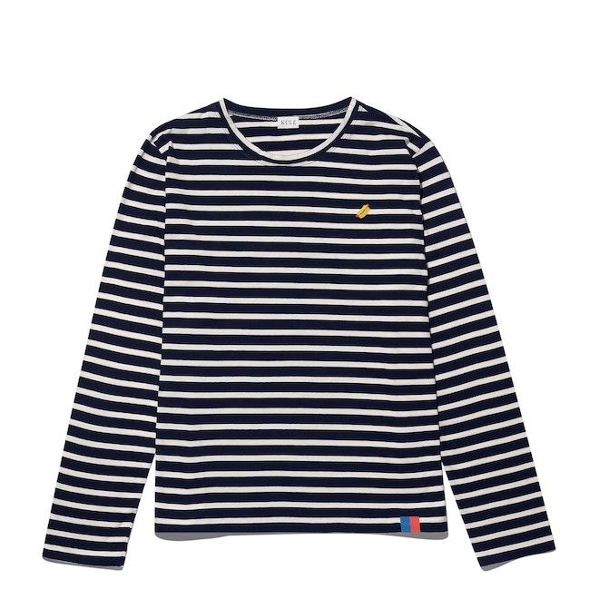 The Modern Long - Navy/Cream - Monogram