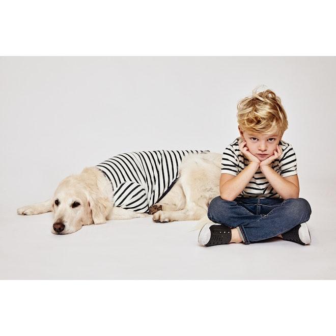The Maxbone Striped Shirt - Cream/Navy