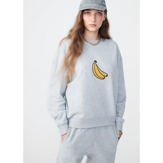 The Oversized Banana Sweatshirt - Heather Grey