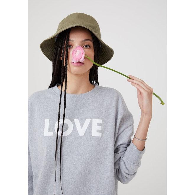 The Oversized Love Sweatshirt - Heather Grey