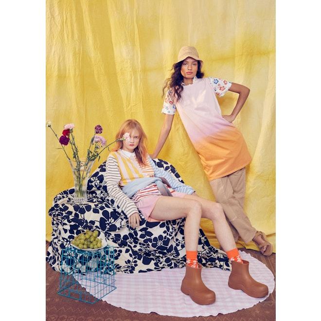 The Women's Hawaiian Dress Sock - Poppy/White