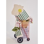 The All Over Striped Tote - Canvas/Green