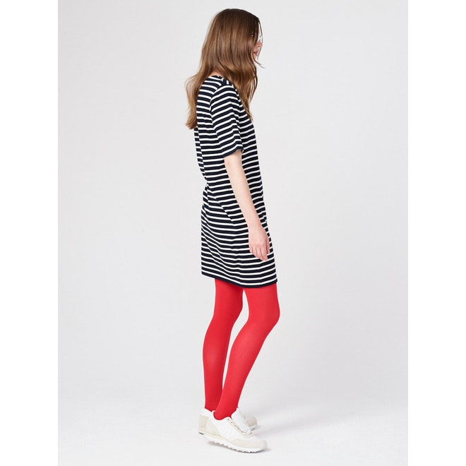 The Tee Dress - Navy/Cream
