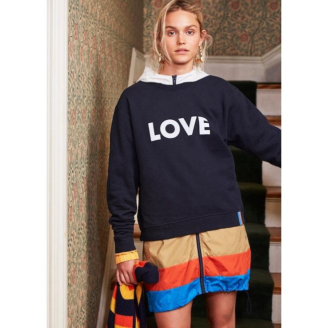 The Oversized LOVE Sweatshirt - Navy