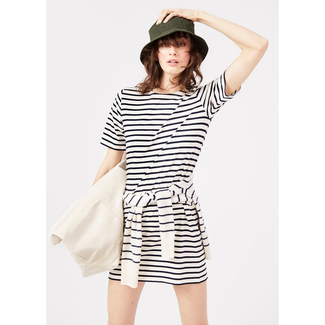 The Tee Dress - Cream/Navy