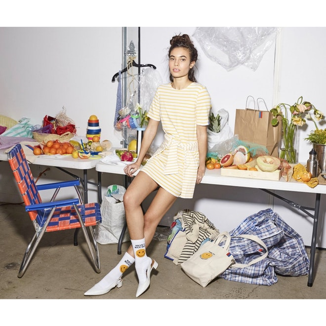 The Take Out Sock - White on Model