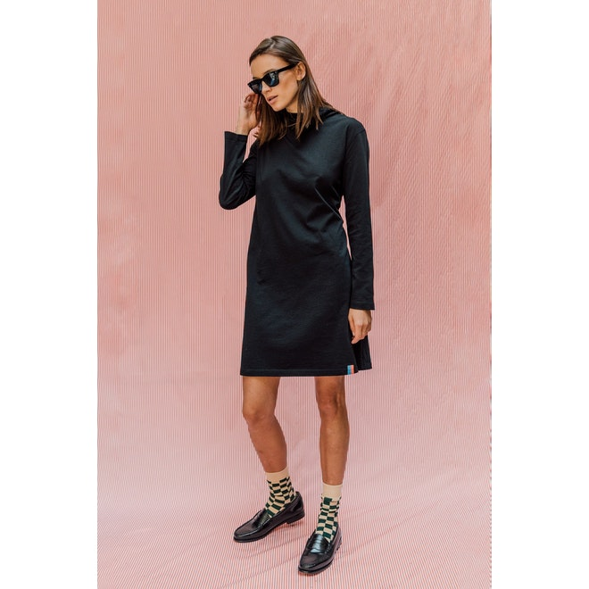 The Women's Check Dress Sock - Pumice/Loden