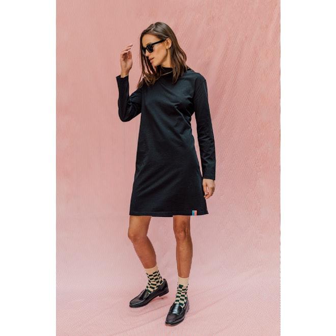 The Turtleneck Dress - Black