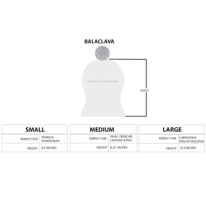 The Maxbone Balaclava Size Chart