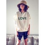 The Oversized LOVE Sweatshirt - White